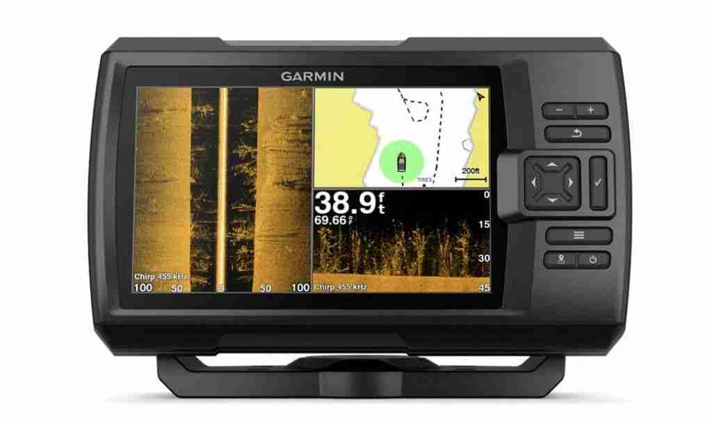 Garmin striver fish finder for jetski