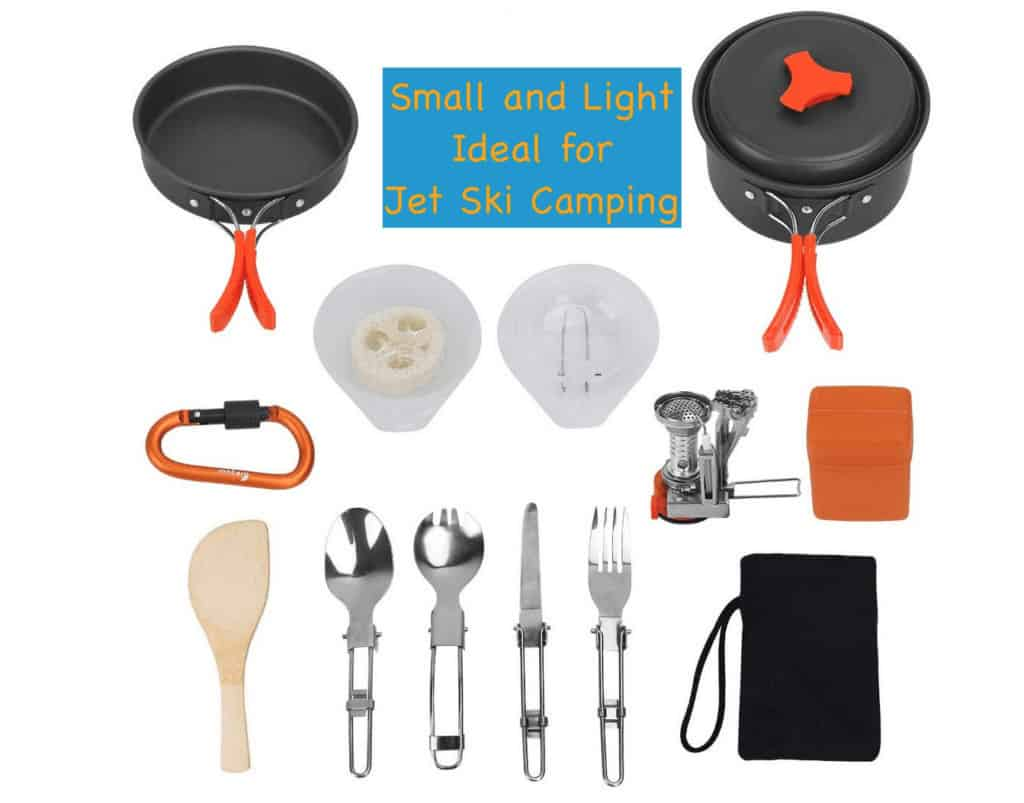 Cooking when going jet ski camping